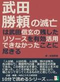 武田勝頼の滅亡は武田信玄の残したリソースを有効活用できなかったことに尽きる